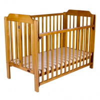 Baby Cot Hire - Wooden Folding Cot